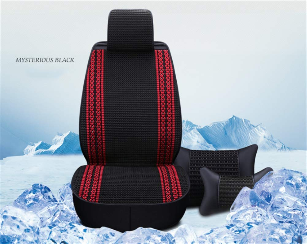 LVRXAISHEN Car seat cushion - summer ice silk ventilation cushion, hand-woven ice silk four seasons universal, suitable for most five-seater cars