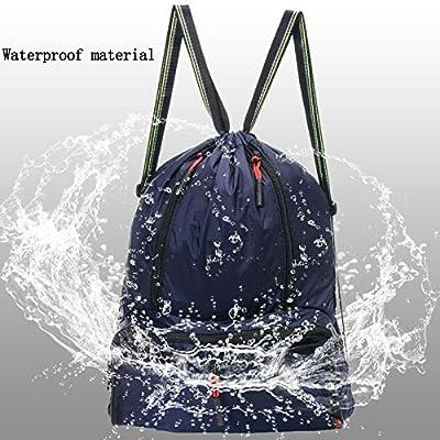 Yinjue Sport GymSack Cinch Sack Drawstring Backpack For Men&Women Kids, Lightweight Foldable Travel Hiking Yoga Summer Swimming Dancer Bags