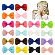 DEEKA 20PCS 2¾  Grosgrain Ribbon Bows Clips Fashion Boutique Hair Bows Alligator Clips For Baby Girls