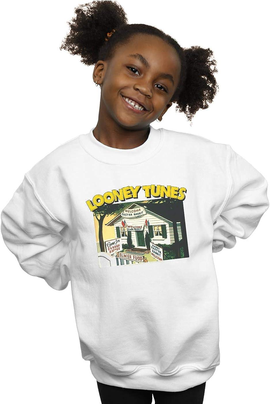 Looney Tunes Girls Elmer Fudd Welcome Easter Rabbit Sweatshirt