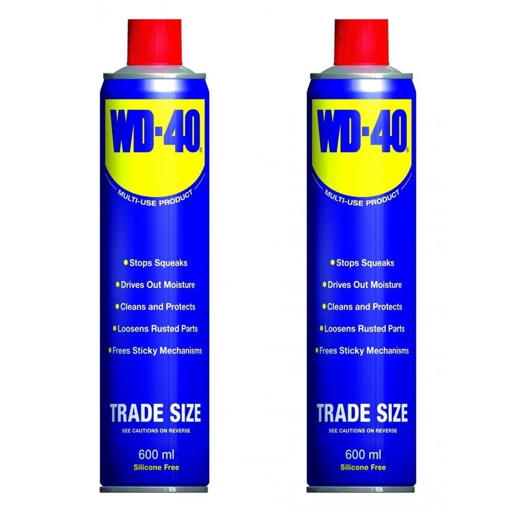 2 Can WD40 Penetrant Lubricant Releasant Cleaner Oil 600ml WD-40 44010 X 2 NEW by WD-40