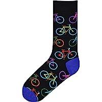K. Bell Socks Men's Modes of Transportation Novelty Crew Socks