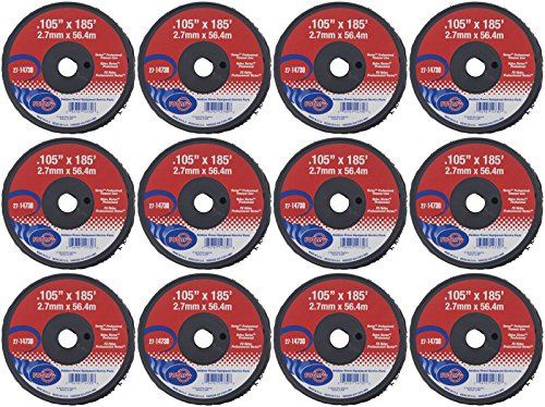 "12 Pack of Vortex Trimmer Line 14730, 0.105"" X 185' Small Spools by Rotary"