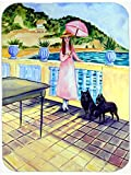 Caroline's Treasures 7267LCB Lady with Her Schipperke Glass Cutting Board, Large, Multicolor