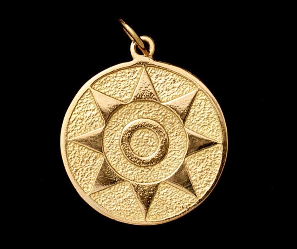 Colgante Pintadera Sol de oro.: Amazon.es: Handmade