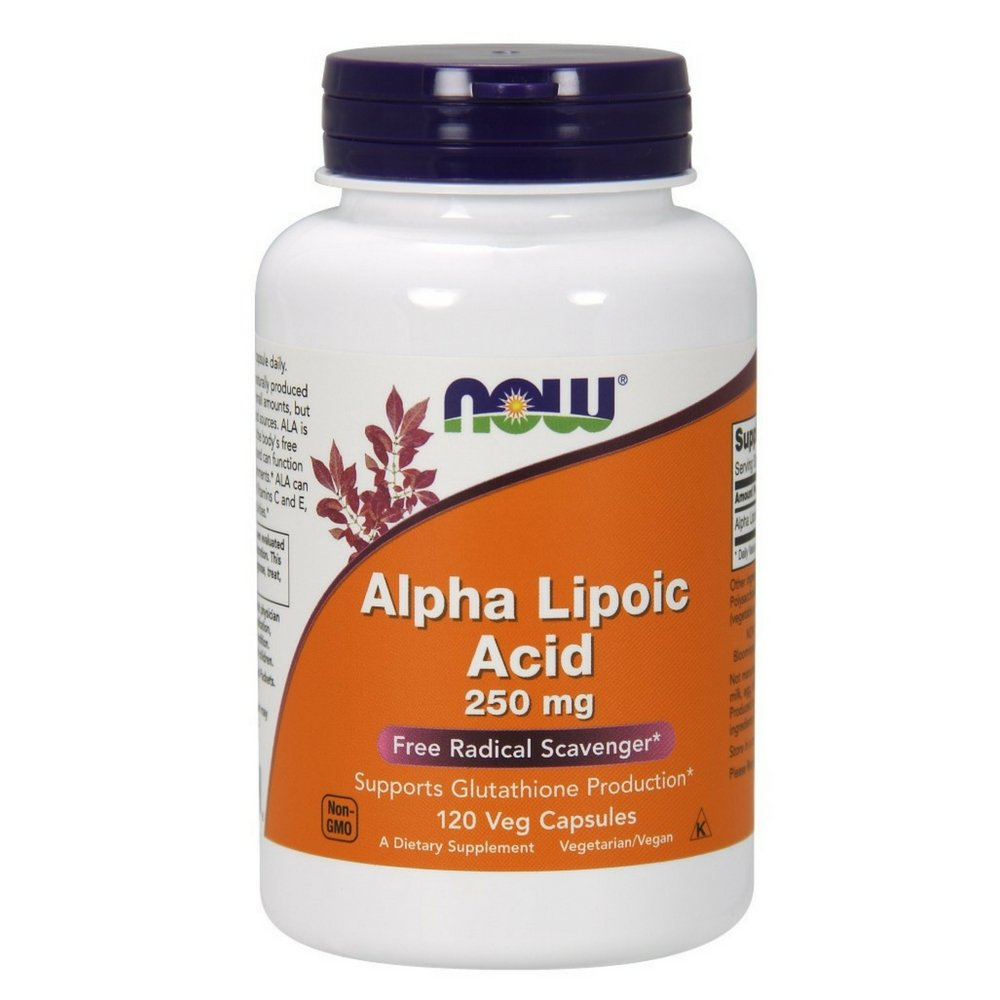 NOW Alpha Lipoic Acid 250 mg,120 Veg Capsules