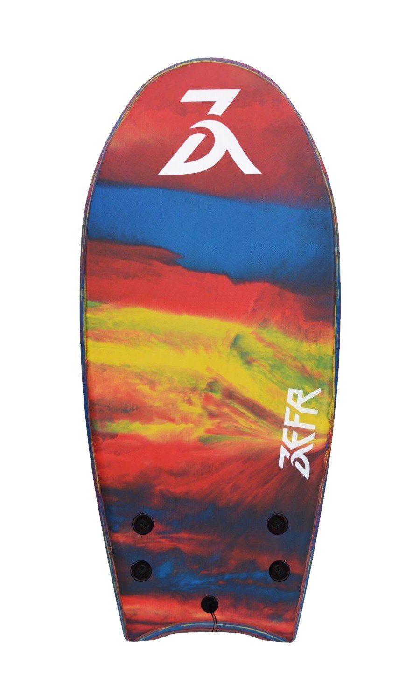''Holiday Sale'' ZEFR Fusion Board (Parrot) INDESTRUCTIBLE 48'' Solid Foam 1-Piece Construction Hybrid Surfboard Bodyboard, Shore-Break Proof, Leash & Fins Incl.