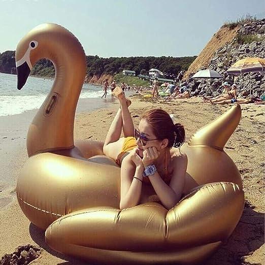 Verano Nueva Fila Flotante Cisne Dorado Juguetes Inflables, Pvc ...
