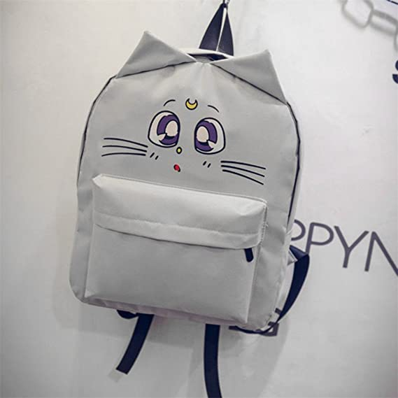 Amazon.com: KKDKXW Lovely Cat Printing Backpack Women Canvas School Backpack For Teenagers Ladies Casual Cute Rucksack Bookbags A01: Sports & Outdoors