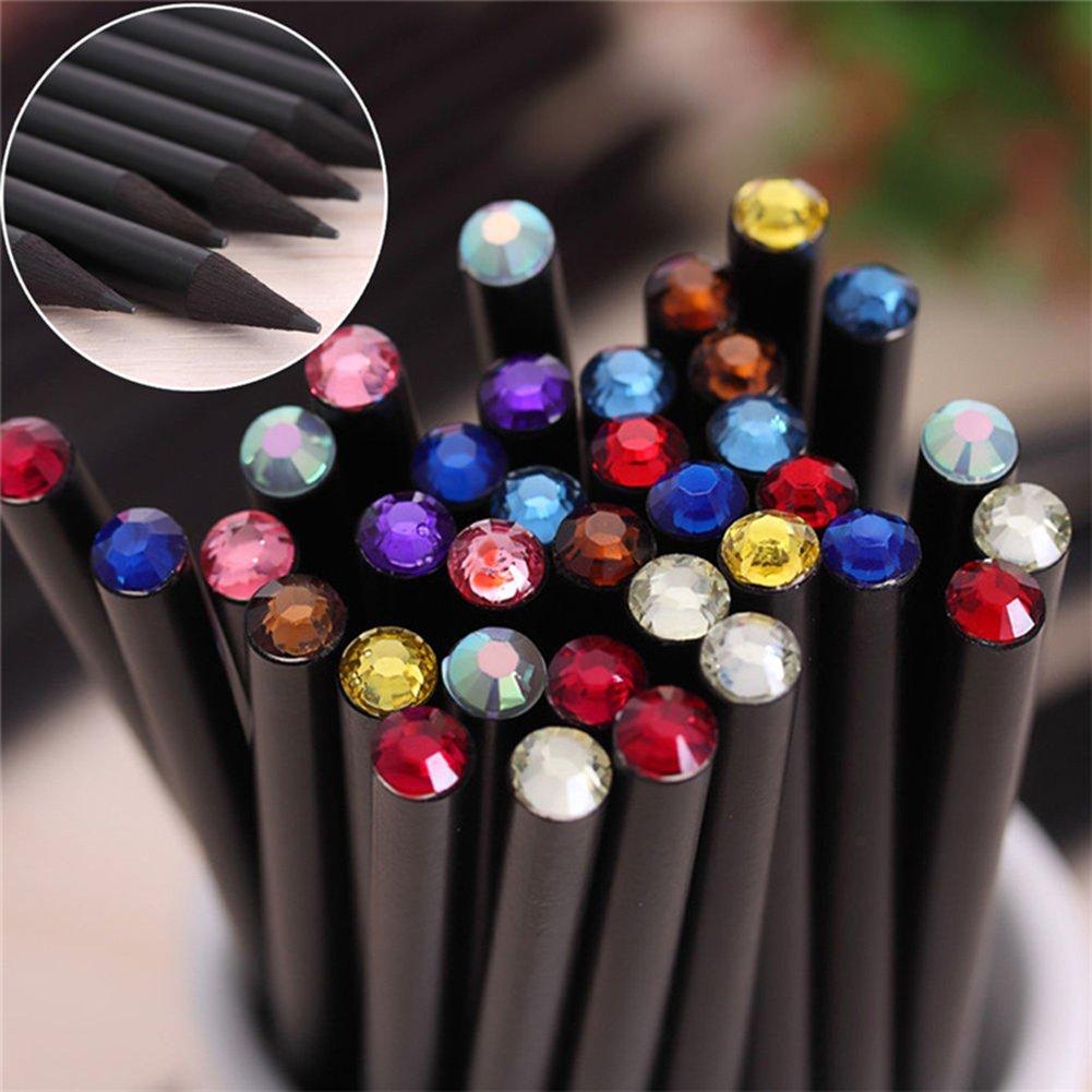 AUTFIT Bleistifte Set HB Schwarz Rod mit farbigen Diamant Top Skizze Bleistifte für Kinder Schreiben Drawing