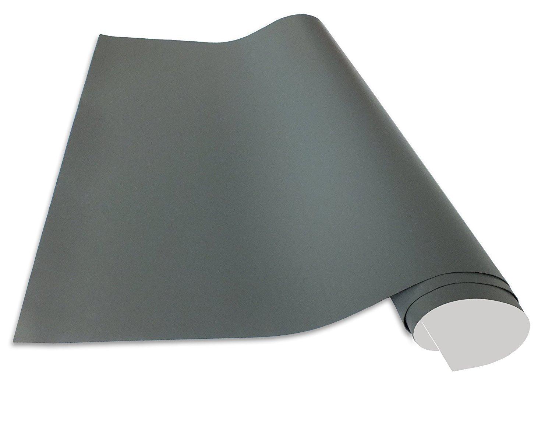 Cuadros Lifestyle Selbstklebende und magnetische Vinyl- Tafelfolie, Farbe Grau, Größe 100x250 cm