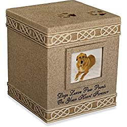 Angel Star 6-Inch Pet Urn for Dog, Dark Brown