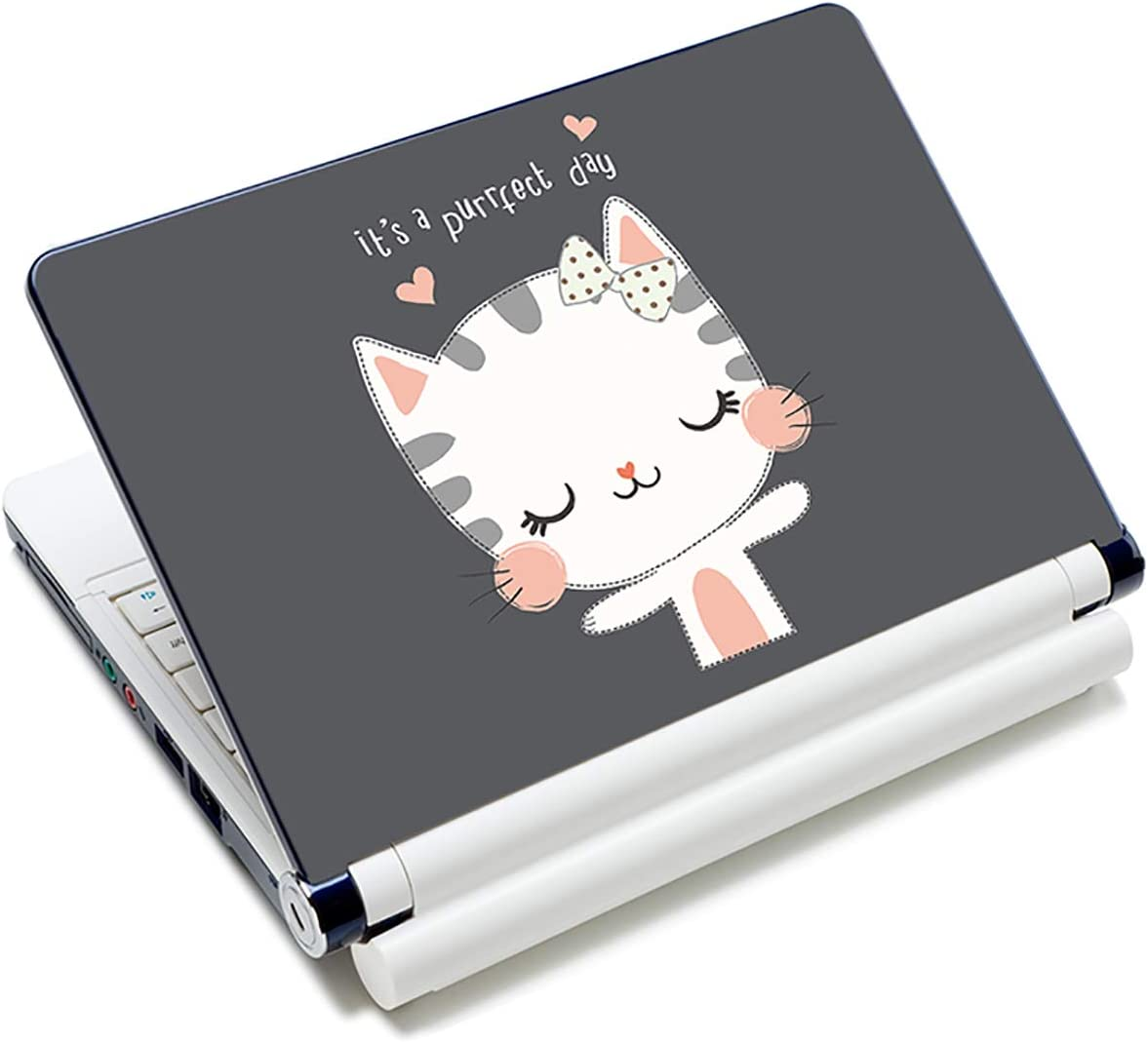 "Laptop Skin Vinyl Sticker Decal, 12"" 13"" 13.3"" 14"" 15"" 15.4"" 15.6 inch Laptop Skin Sticker Cover Art Decal Protector Fits HP Dell Lenovo Compaq Apple Asus Acer (Cute Cat)"