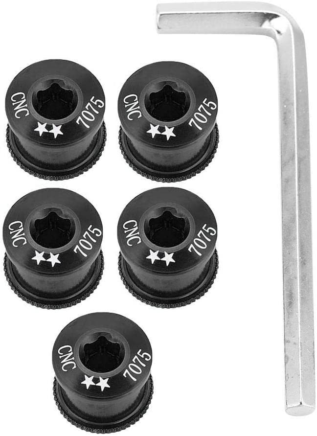 5PCS Bike Chainring Bolts Single//Double//Triple Speed Chain ring Scre DO