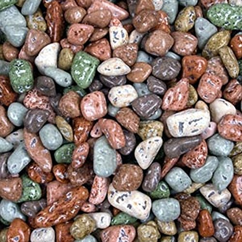 Chocolate Rocks - Mixed River Stones 1LB Bag]()