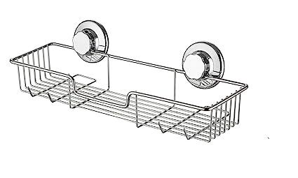 Accessori Da Bagno Con Ventosa.Sanno Cestino Contenitore Organizer Per Bagno Con Ventosa Nessun Danno Per Accessori Da Cucina E Bagno In Acciaio Inox Antiruggine
