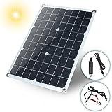 PerGrate El Panel Solar, Cargador Solar 20W Impermeable de la Batería del Panel Solar USB para la Iluminación del teléfono Cargador de Coche Camping Viajes