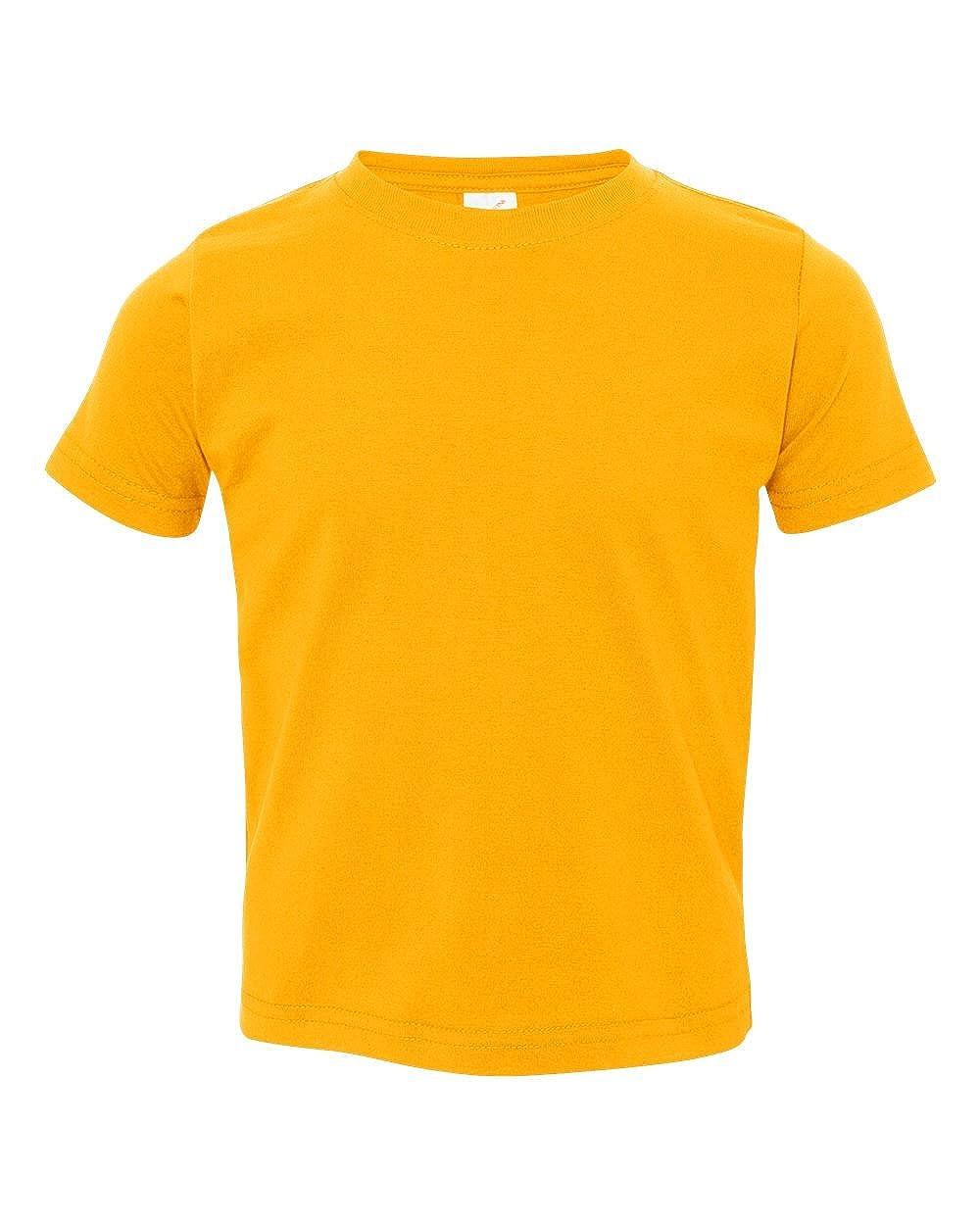 Rabbit Skins Toddler Soft Ribbed Crewneck Jersey T-Shirt 3321