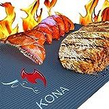 Kona Grill Mat(TM) - Best Heavy Duty Non-Stick BBQ Grill Mats 16 x 13 Inch (Set of 2)
