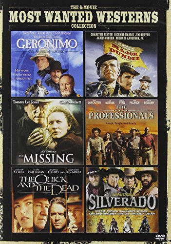 6-Movie Most Wanted Westerns : Geronimo: An American Legend/Major Dundee/The Missing/The Professionals/The Quick And The Dead/Silverado (DVD)