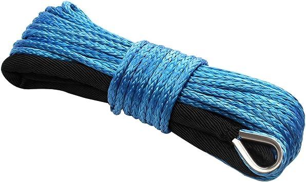 Lo 6 mm x 15 m Nylon sint/ético Cuerda de Cuerda de cabrestante con Vaina Azul para ATV UTV