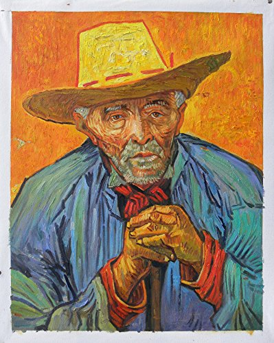 High Quality Portraits (The Peasant, Portrait of Patience Escalier - Vincent van Gogh high quality hand-painted oil painting reproduction,old man with straw hat,family room art)