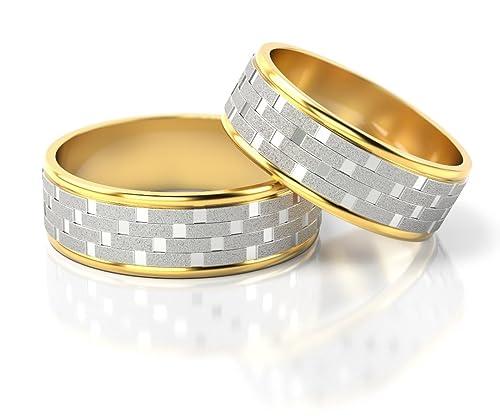 Ringe-der-Welt Anillos De Boda Oro Blanco/Oro amarillo S-835