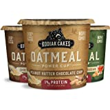 Kodiak Cakes Instant Protein Oatmeal Cup, Variety Pack: Peanut Butter Chocolate Chip, Maple & Brown Sugar, & Chocolate Chip (