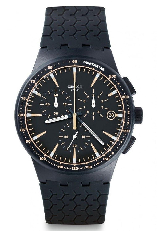 Swatch Herren-Armbanduhr Chronograph Quarz Silikon SUSN407
