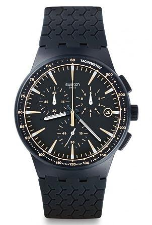 Armbanduhr swatch  Swatch Herren-Armbanduhr Chronograph Quarz Silikon SUSN407: Amazon ...