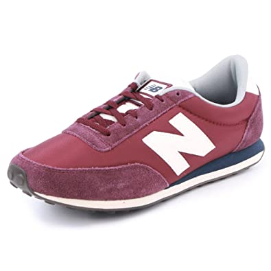 New Balance 410 U410HBB Mens Laced Nylon & Suede Trainers Maroon - 8 ...