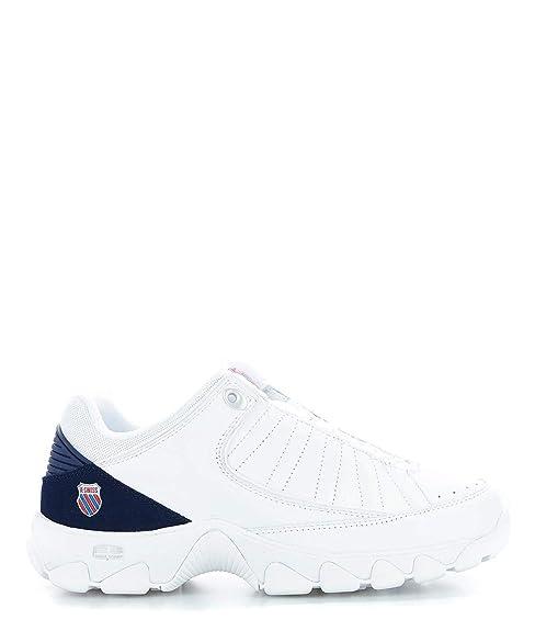 K-Swiss Shoes Mujer K96045 Blanco Cuero Zapatillas: Amazon.es: Zapatos y complementos