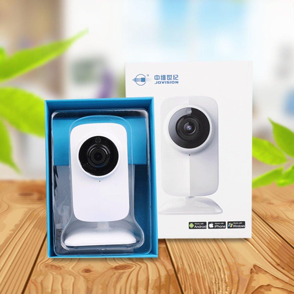 JOVISION Cámara IP, HD 720P, 1.0MP, permite conversación bidireccional, para interiores, ideal para el hogar u oficina, inalámbrica WiFi y Ethernet, CCTV, ...