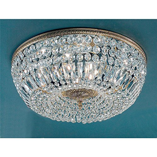 Classic Lighting 52824 OWB CP Crystal Baskets Flush/Semi-Flush Mount ()