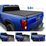 Tyger Auto T1 Soft Roll Up Truck Bed Tonneau Cover for 2014-2019 Chevy Silverado / GMC Sierra 1500  2019 Classic ONLY  Fleetside 5.8' Bed  TG-BC1C9006