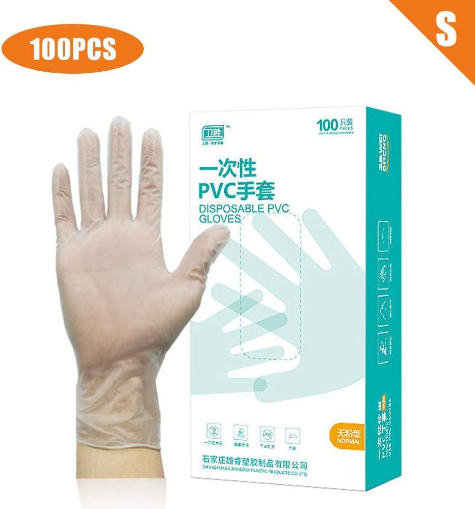 PVC Material Gloves for Medical//Dishwashing//Kitchen Large 100 Pcs Transparent Disposable Gloves
