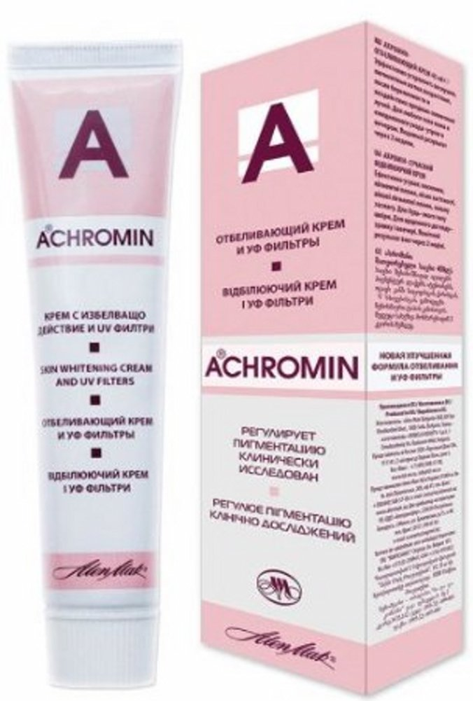 ACHROMIN CREAM / REAL WHITENING CREAM/ 45 ml. - UV Removes & Prevents Reccurrance of Pigmented Dark Spots, Age Spots, Post- Pregnancy Brown Patches HealthCenter