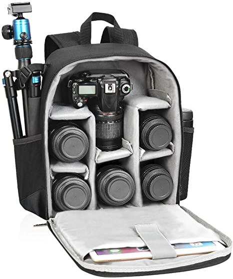 CADeN Camera Backpack Bag Professional for DSLR/SLR Mirrorless Camera Waterproof, Camera Case Compatible for Sony Canon Nikon Camera and Lens Tripod ...