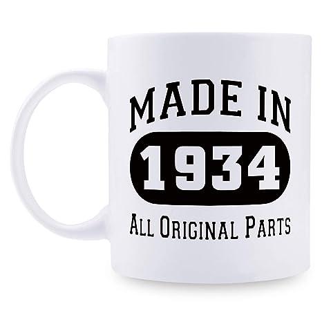 Amazon.com: Regalo de cumpleaños 85 para hombres – 1934 ...