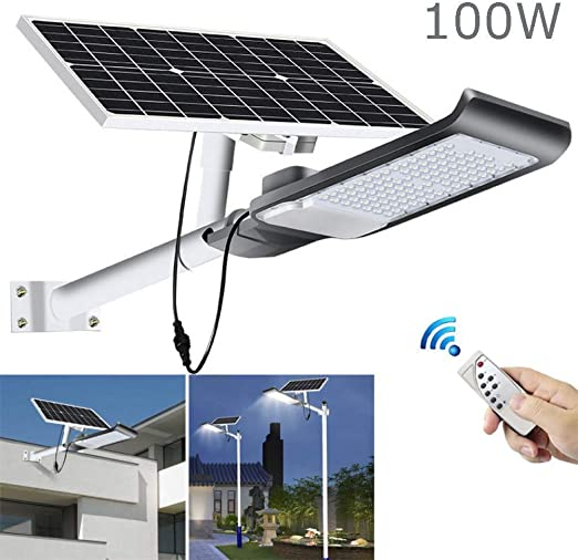 LITTER Luz Solar Exterior Jardin, Proyector Solar Outdoor-100W LED ...