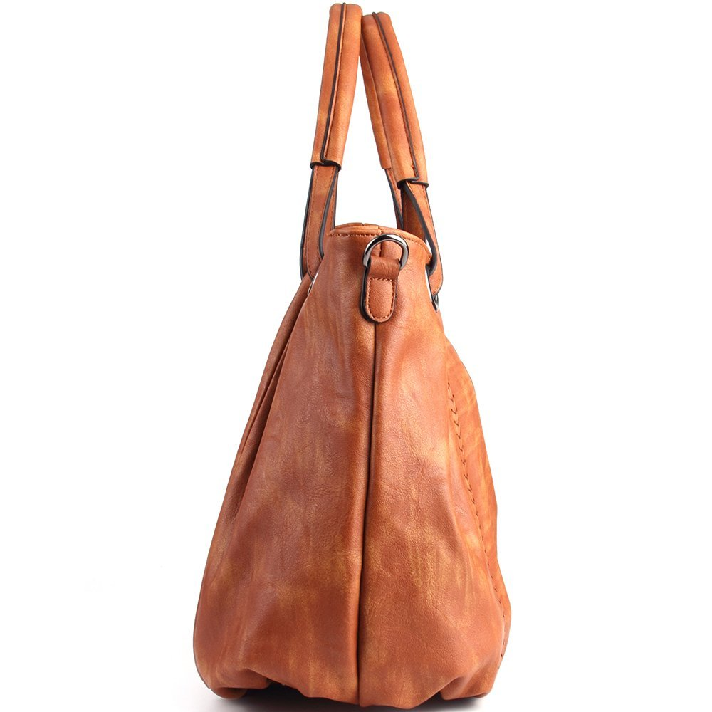 JOYSON Damen Handtaschen Schultertaschen PU Leder Taschen Umhängetaschen  Damen PU Leder Hobo Taschen Henkeltaschen Grosse Kapazität (L 40cm   H 30cm  ... 9079fd80e7