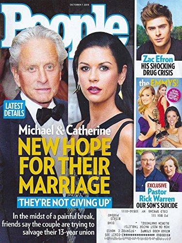 Michael Douglas & Catherine Zeta-Jones l Zac Efron l 65th Primetime Emmy Awards l Rick Warren - October 7, 2013 People Magazine