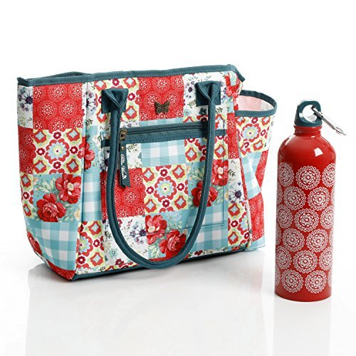 The Pioneer Woman Patchwork Lunch Tote w/ Hydration Bottle (Pioneer Bag)