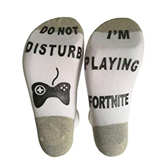 Amazon.com: Cotton Novelty Ankle Socks for Mens Womens Fortnite Gamer Lovers Gift Game Machine Graph Design: Clothing