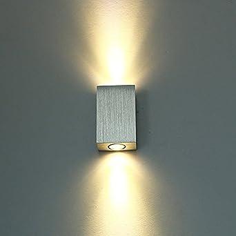 Lightess 6w Wandleuchte Led Wandlampe Innen Modern Up And Down Wand