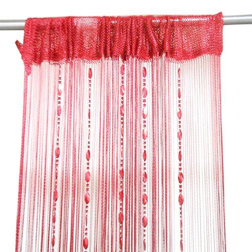 ZideTang Beaded Door Curtain Tassel Divider Color Wine