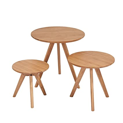 Beautiful CLEARANCE Coffee Table Set, Stacking End Side Table With Modern Design  (Solid Wood,