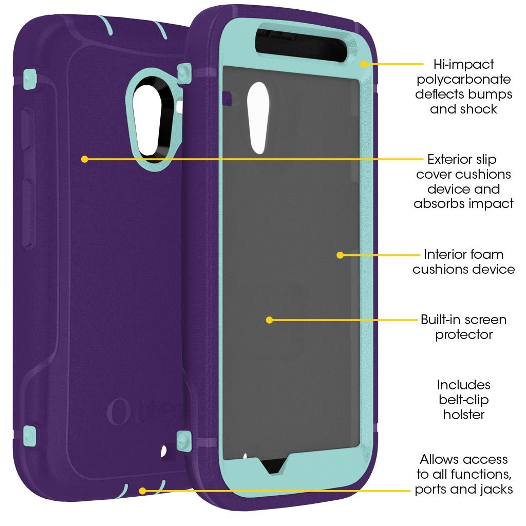 san francisco 6e686 ab248 OtterBox Defender Case and Holster for Motorola Moto X (1st Generation Only)