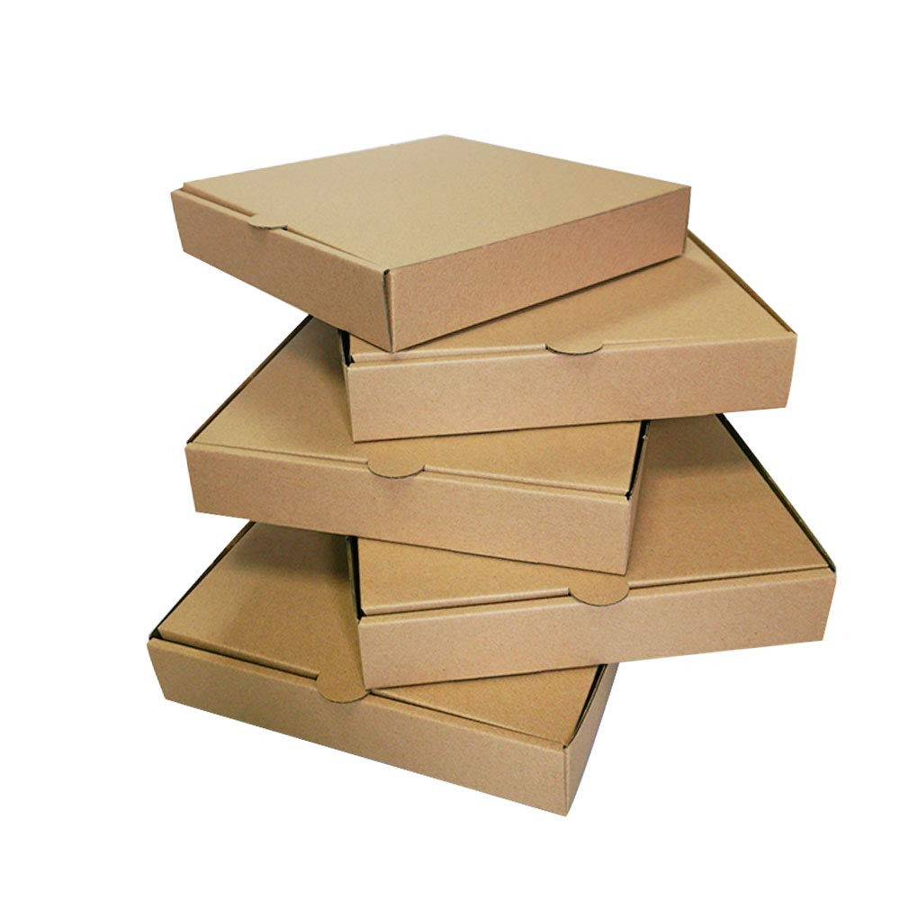 9 inches PremiumKraft PaperboardCorrugated Pizza Boxes Take Out Food Containers Packing Boxes Lock Corner Bakery Box (10 Pack)