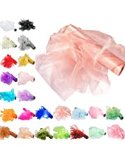 Time to Sparkle TtS Organza Roll Sash Fabric Chair Cover Bows Table Runner Sashes Swags for Wedding Party
